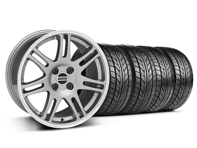 10th Anniversary Cobra Style Anthracite Wheel & NITTO Tire Kit - 17x9 (87-93; Excludes 93 Cobra)