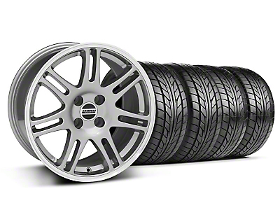 10th Anniversary Cobra Anthracite Wheel & NITTO Tire Kit - 17x9 (87-93; Excludes 93 Cobra)