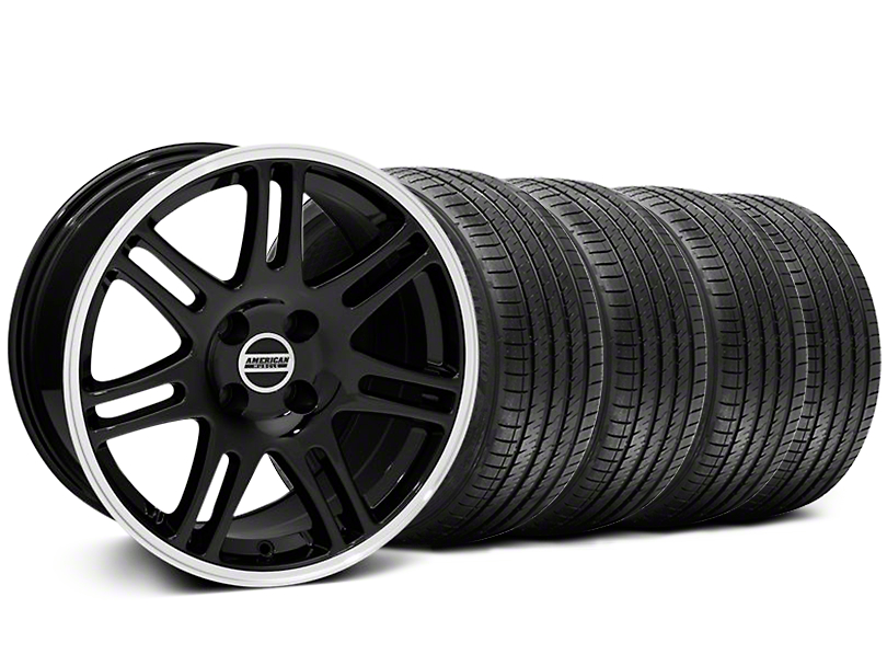 10th Anniversary Cobra Style Black Wheel & Sumitomo Tire Kit - 17x9 (87-93; Excludes 93 Cobra)