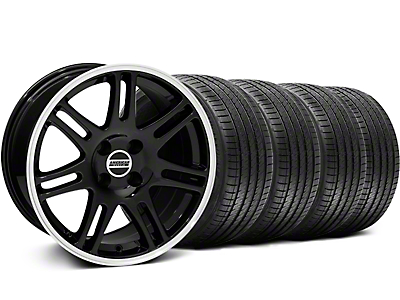 Black 10th Anniversary Style Wheel & Sumitomo Tire Kit - 17x9 (87-93; Excludes 93 Cobra)
