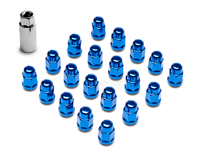 Blue Acorn Lug Nuts - 3/4in (79-14 All)