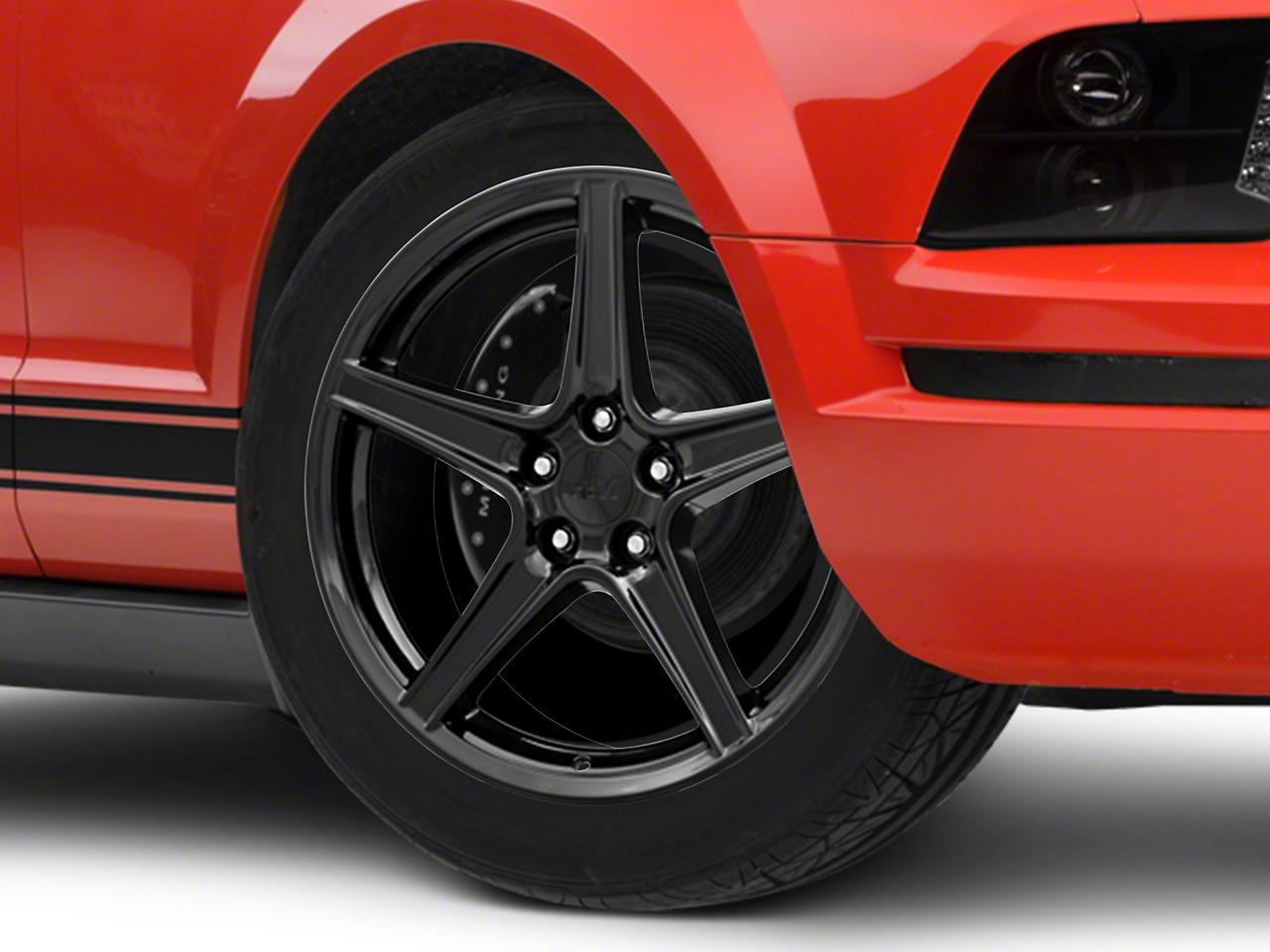 Saleen Style Black Wheel - 19x8.5 (05-14 GT, V6)
