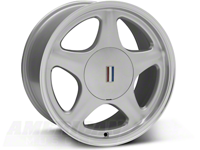 Silver Pony Wheel w/ Machined Lip - 5 Lug - 17x9 (87-93; Excludes 93 Cobra)