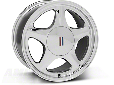 Chrome Pony Wheel - 5 Lug - 17x9 (87-93; Excludes 93 Cobra)
