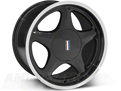 Pony Black w/ Machined Lip Wheel - 5 Lug - 17x10 (87-93; Excludes 93 Cobra)