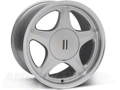 Silver Pony Wheel w/ Machined Lip - 5 Lug - 17x10 (87-93; Excludes 93 Cobra)