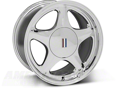 Chrome Pony Wheel - 5 Lug - 17x10 (87-93; Excludes 93 Cobra)