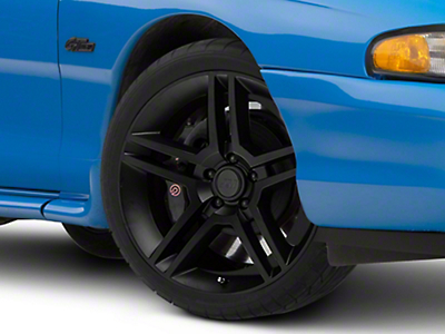 Matte Black 2010 Style GT500 Wheel - 19x8.5 (94-04 All)