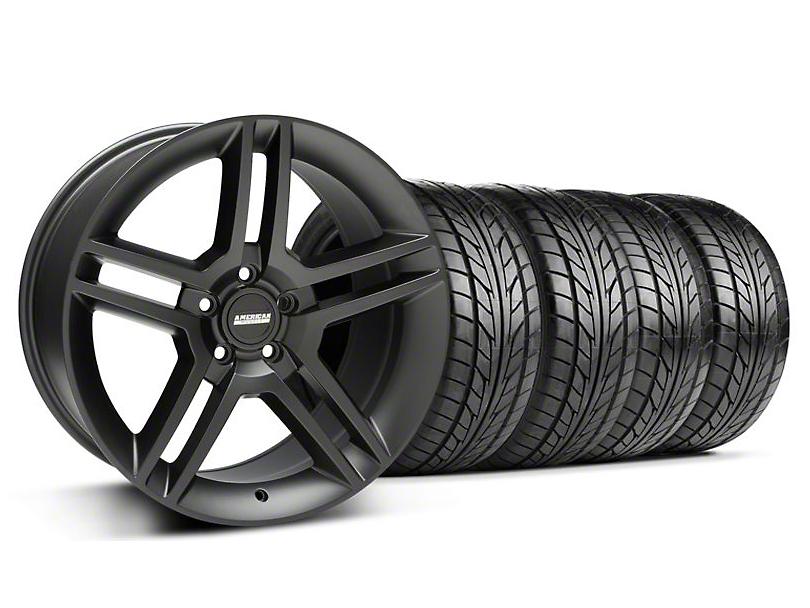 2010 GT500 Style Matte Black Wheel & NITTO Tire Kit - 18x9 (05-14 All)