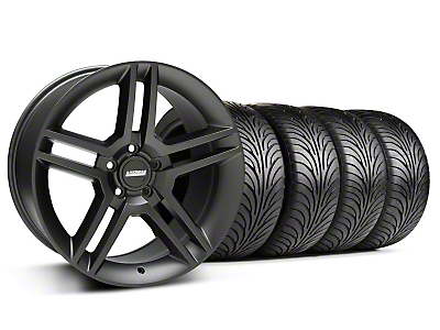 Staggered Matte Black 2010 Style GT500 Wheel & Sumitomo Tire Kit - 18x9/10 (05-14 All)