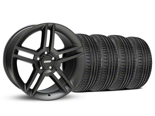 2010 GT500 Style Matte Black Wheel & Sumitomo Tire Kit - 19x8.5 (05-14 All)