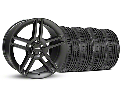 Matte Black 2010 Style GT500 Wheel & Sumitomo Tire Kit - 19x8.5 (05-14 All)