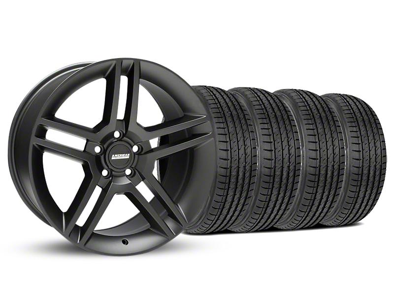 2010 GT500 Style Matte Black Wheel & Sumitomo Tire Kit - 19x8.5 (05-14 All)