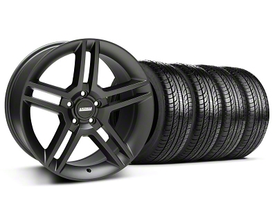 2010 GT500 Style Matte Black Wheel & Pirelli Tire Kit - 19x8.5 (05-14 All)