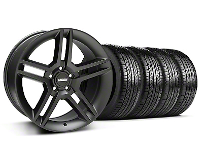 Matte Black 2010 Style GT500 Wheel & Pirelli Tire Kit - 19x8.5 (05-14 All)