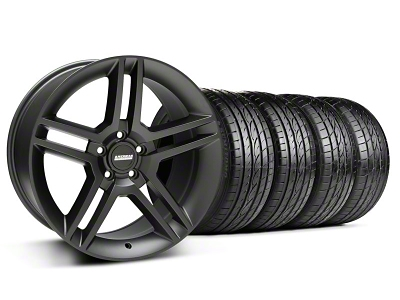 2010 GT500 Style Matte Black Wheel & Sumitomo Tire Kit - 19x8.5 (94-04 All)