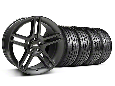 Matte Black 2010 Style GT500 Wheel & Sumitomo Tire Kit - 19x8.5 (94-04 All)