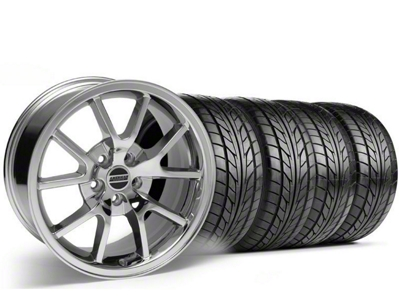 Staggered FR500 Style Chrome Wheel & NITTO Tire Kit - 18x9/10 (05-14)