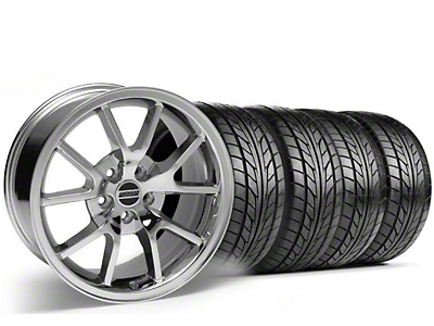 Staggered FR500 Chrome Wheel & NITTO Tire Kit - 18x9/10 (05-14)