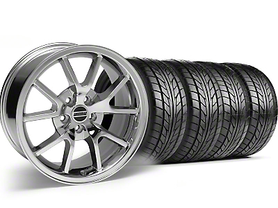FR500 Style Chrome Wheel & NITTO Tire Kit - 18x9 (05-14)