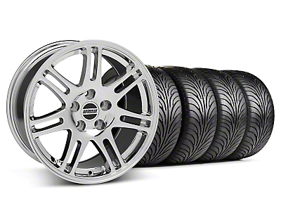 Staggered 10th Anniversary Cobra Style Chrome Wheel & Sumitomo Tire Kit - 18x9/10 (05-14 All)