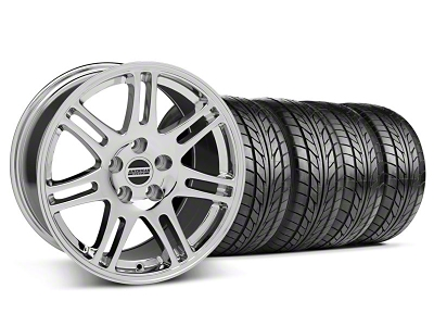 Staggered 10th Anniversary Cobra Style Chrome Wheel & NITTO Tire Kit - 18x9/10 (05-14 All)