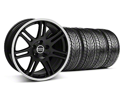 Black 10th Anniversary Style Wheel & Nitto Tire Kit - 18x9 (94-98 All)