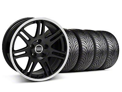 Staggered Black 10th Anniversary Style Wheel & Sumitomo Tire Kit - 18x9/10 (94-98 All)