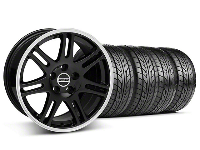 Staggered 10th Anniversary Cobra Style Black Wheel & NITTO Tire Kit - 18x9/10 (94-98 All)