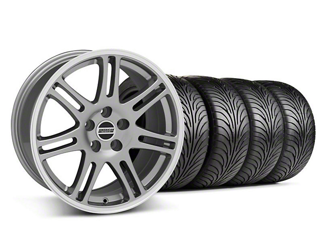 10th Anniversary Cobra Style Anthracite Wheel & Sumitomo Tire Kit - 18x9 (05-14 All)