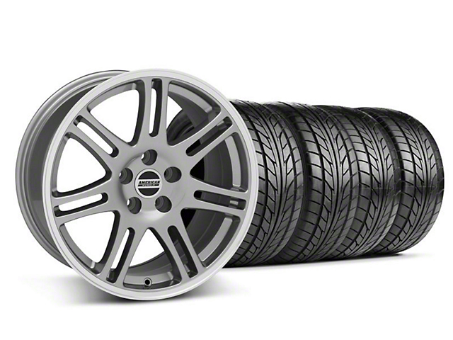 10th Anniversary Cobra Style Anthracite Wheel & NITTO Tire Kit - 18x9 (05-14 All)