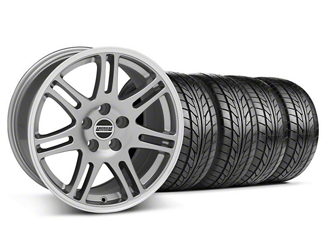 Staggered 10th Anniversary Cobra Style Anthracite Wheel & NITTO Tire Kit - 18x9/10 (94-98 All)