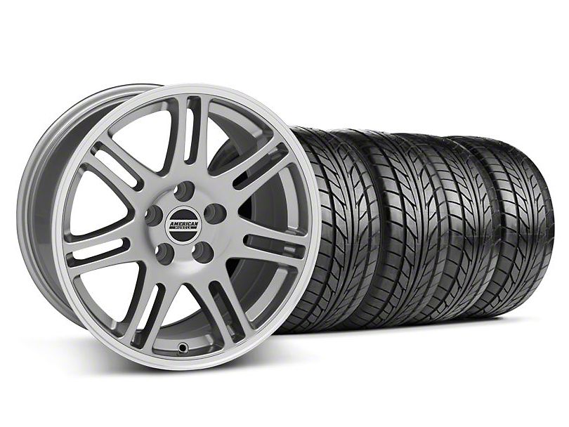 Staggered 10th Anniversary Cobra Style Anthracite Wheel & NITTO Tire Kit - 18x9/10 (05-14 All)