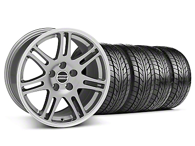 Staggered 10th Anniversary Cobra Anthracite Wheel & NITTO Tire Kit - 18x9/10 (05-14 All)