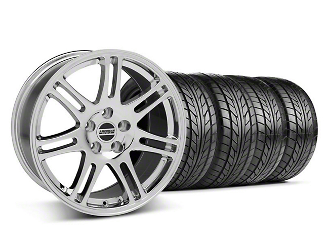 10th Anniversary Cobra Style Chrome Wheel & NITTO Tire Kit - 17x9 (94-98 All)