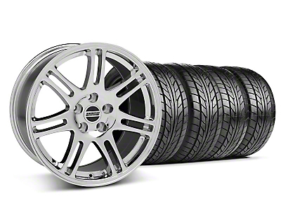 Chrome 10th Anniversary Style Wheel & Nitto Tire Kit - 17x9 (94-98 All)