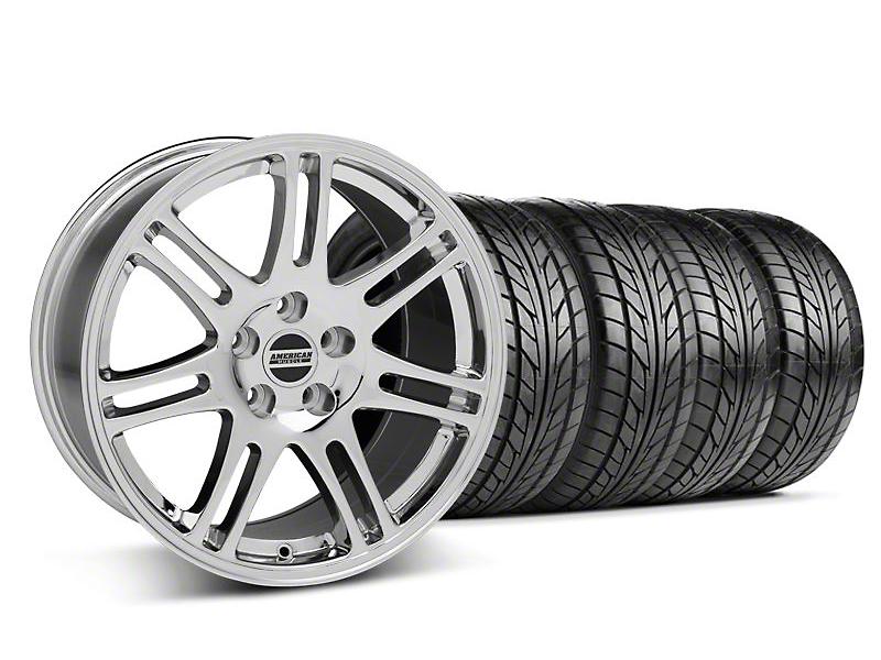 10th Anniversary Cobra Style Chrome Wheel & NITTO Tire Kit - 17x9 (05-14 All)