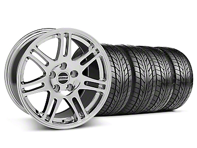 Staggered Chrome 10th Anniversary Style Wheel & NITTO Tire Kit - 17x9/10.5 (94-98 All)