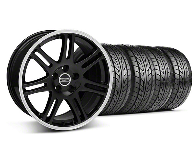 10th Anniversary Cobra Style Black Wheel & NITTO Tire Kit - 17x9 (05-14 All)