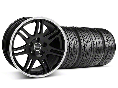 Staggered 10th Anniversary Cobra Style Black Wheel & NITTO Tire Kit - 17x9/10.5 (94-98 All)