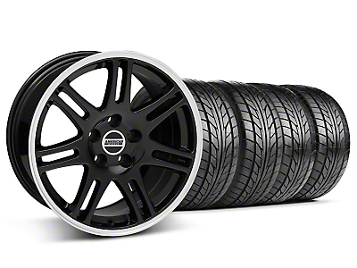 Staggered Black 10th Anniversary Style Wheel & NITTO Tire Kit - 17x9/10.5 (94-98 All)