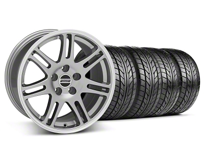 Staggered 10th Anniversary Cobra Style Anthracite Wheel & NITTO Tire Kit - 17x9/10.5 (94-98 All)