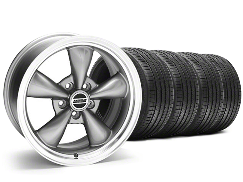 Staggered Bullitt Anthracite Wheel & Sumitomo Tire Kit - 18x9/10 (05-10 GT; 05-14 V6)