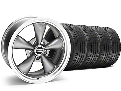 Staggered Bullitt Anthracite Wheel & Sumitomo Tire Kit - 18x9/10 (05-14 GT, V6)