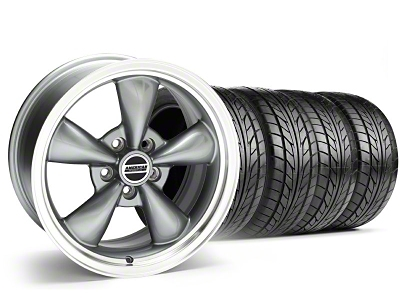 Staggered Bullitt Anthracite Wheel & NITTO Tire Kit - 18x9/10 (05-14 GT, V6)