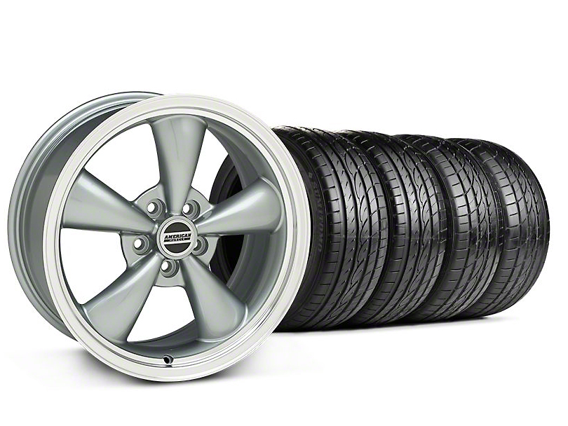 Bullitt Anthracite Wheel & Sumitomo Tire Kit - 17x8 (05-14 V6; 05-10 GT)