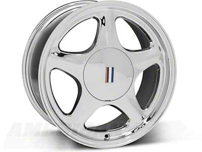 Chrome Pony Wheel - 17x8 (87-93; Excludes 93 Cobra)