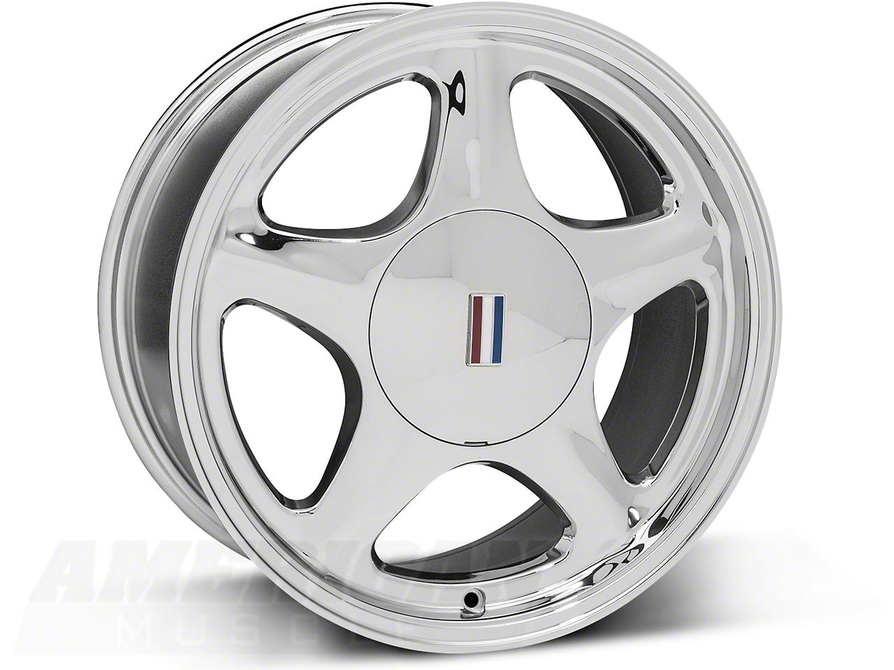 Pony Chrome Wheel - 17x8 (87-93; Excludes 93 Cobra)