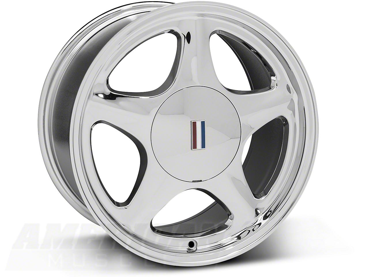 Pony Chrome Wheel - 17x9 (87-93; Excludes 93 Cobra)