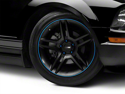 WheelBands Kit - Black w/ Grabber Blue Insert (79-14 All)